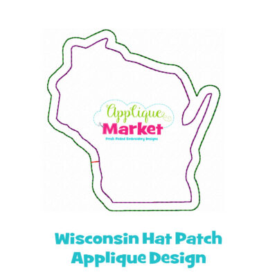 Wisconsin Hat Patch Applique Design