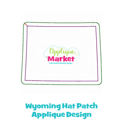 Wyoming Hat Patch Applique Design