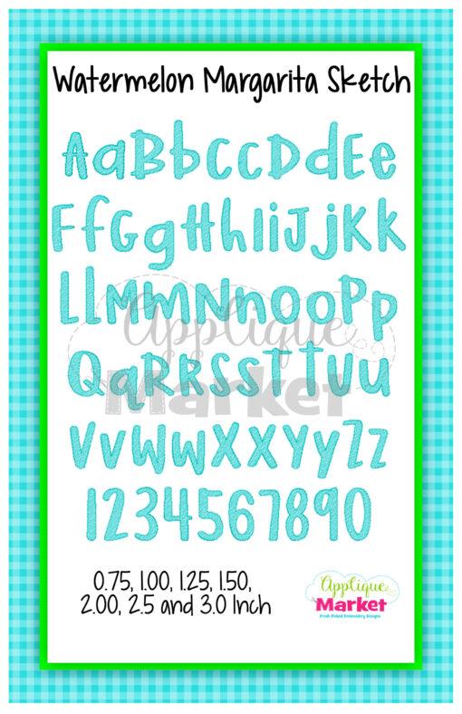 App Market Font Printable Watermelon Margarita Sketch