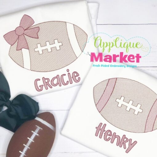 Football Sketch Boy Girl Set