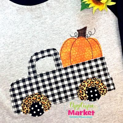 Pumpkin Truck Fenders Bean Stitch