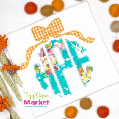 Scallop Circle Applique Bow Topper