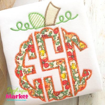 Scallop Circle Monogram Pumpkin Topper