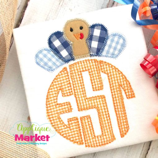 Turkey Monogram Crown Topper