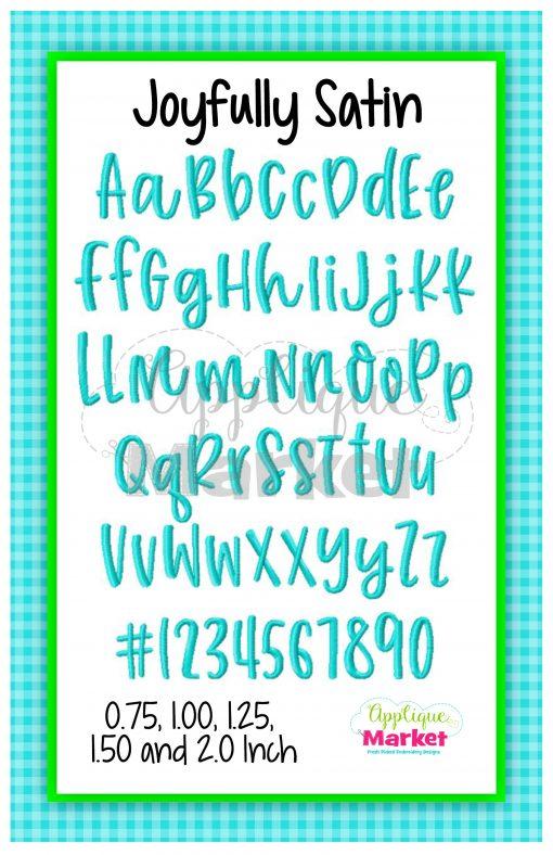 App Market Font Printable Joyfully Satin