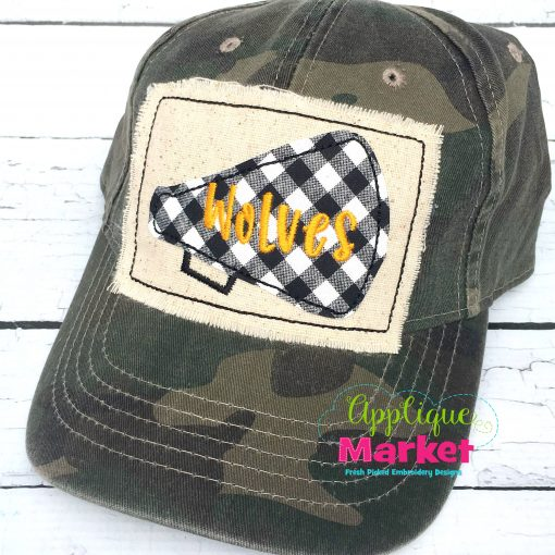 Cheer Hat Patch Applique