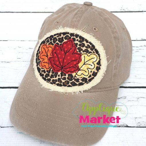 Fall Leaves Hat Patch Applique