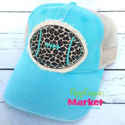Football Hat Patch Applique