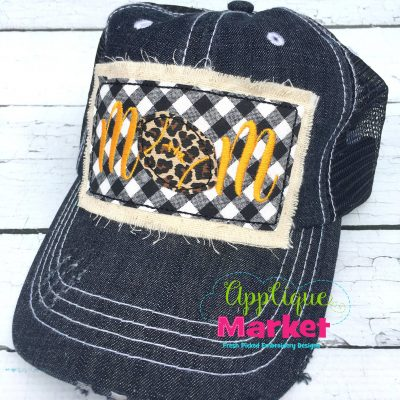 Football Mom Hat Patch Applique