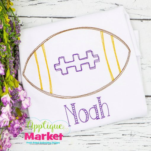 Football Vintage Scribble Stitch