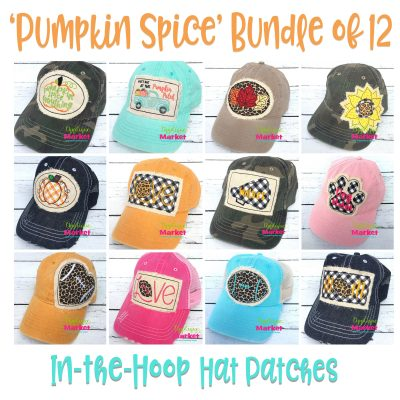 In the Hoop Hat Patches Pumpkin Spice Bundle
