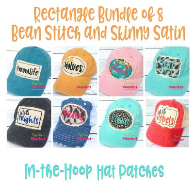 Rectangle Point Bean Hat Patch