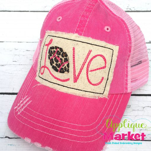 Love Football Hat Patch Applique