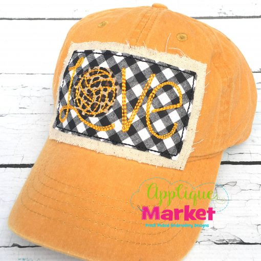 Love Volleyball Hat Patch Applique