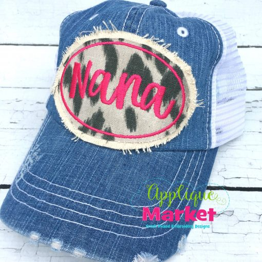 Oval Satin Hat Patch Applique