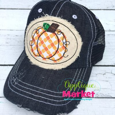Pumpkin Hat Patch Applique