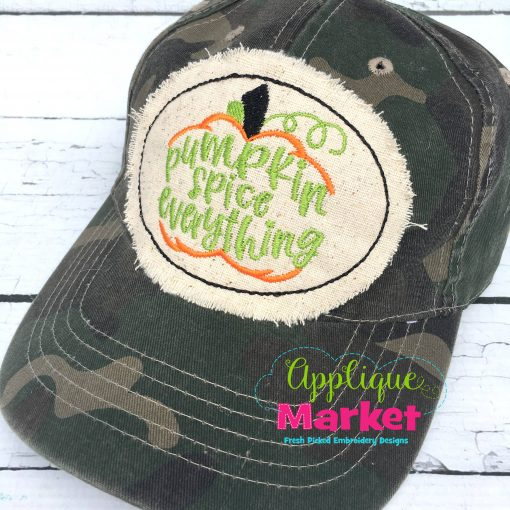 Pumpkin Spice Everything Hat Patch Applique
