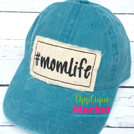 Rectangle Bean Stitch Hat Patch Applique