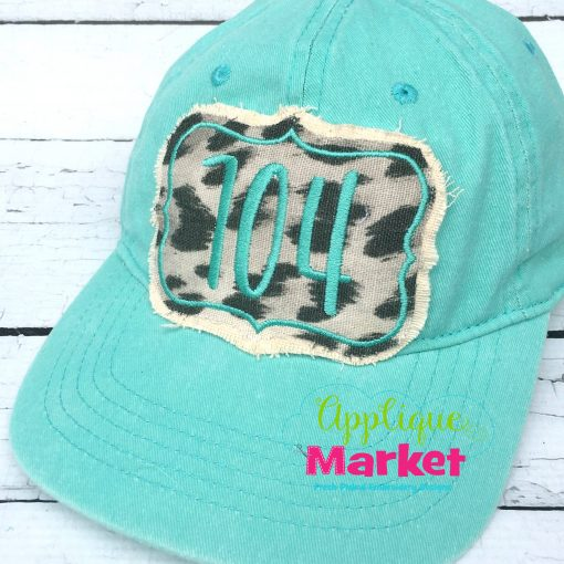 Rectangle Point Satin Hat Patch Applique