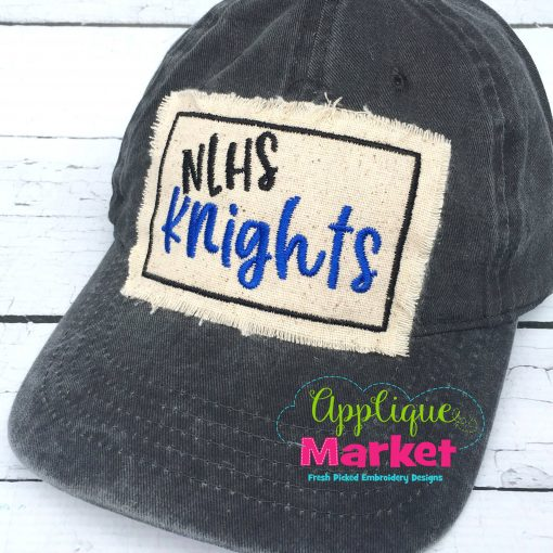Rectangle Satin Hat Patch Applique