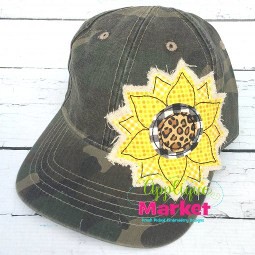 Sunflower Hat Patch Applique