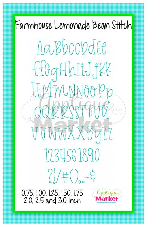 App Market Font Printable Farmhouse Lemonade Bean Stitch