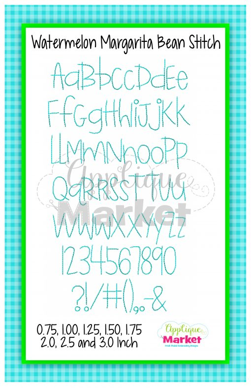 App Market Font Printable Watermelon Margarita Bean Stitch