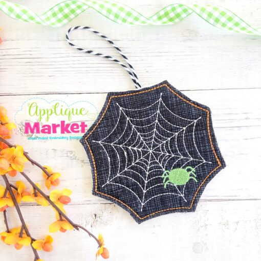 ITH Halloween Ornament Spider Web