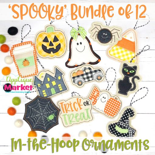 Spooky Bundle of 12 Halloween Ornaments