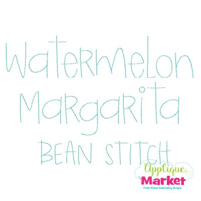 Watermelon Margarita Bean Stitch Font
