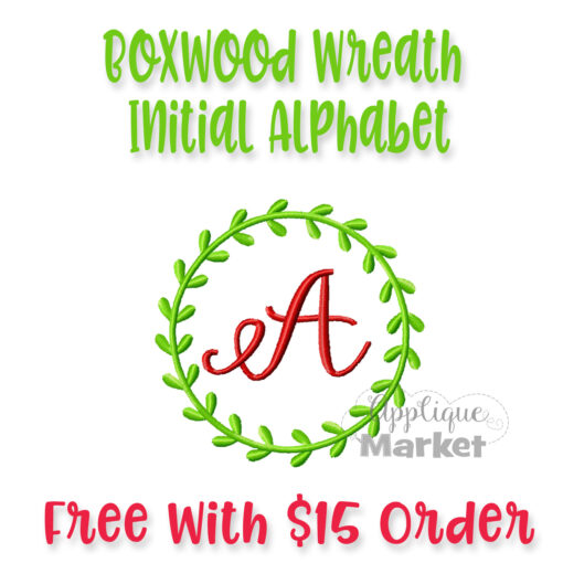 Boxwood Wreath Initial Alpha