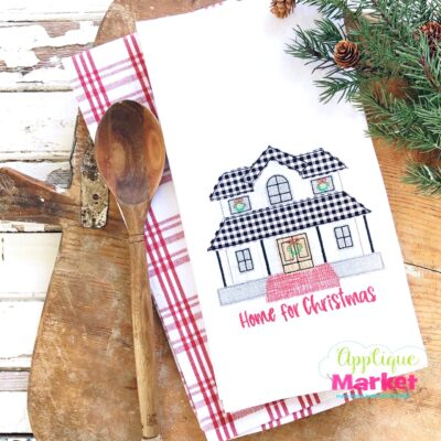Christmas Farmhouse Home Kitchen Towel Applique