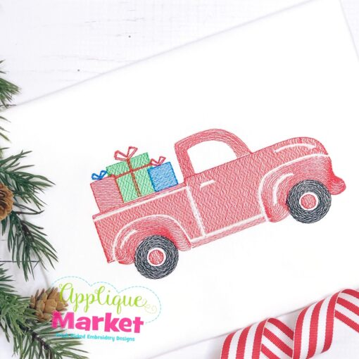 Christmas Packages Truck Sketch