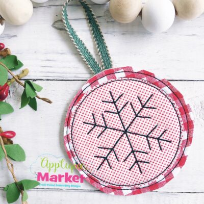 Snowflake Applique In the Hoop Ornament