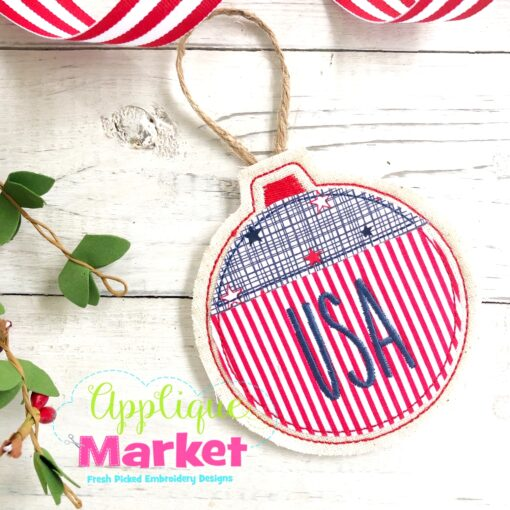 USA In the Hoop Ornament