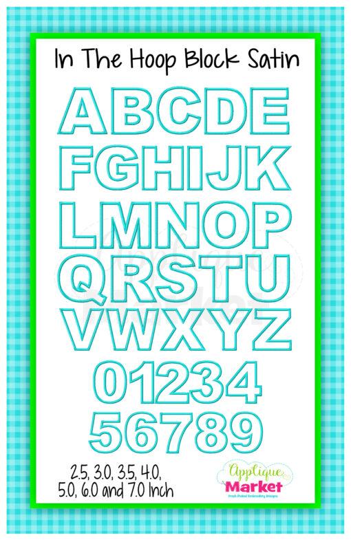 App Market Font Printable ITH Block Satin