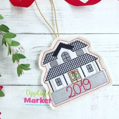 AppMrkt Two Story House ITH Ornament