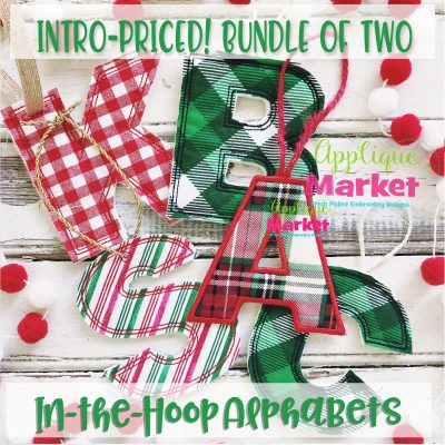 In the Hoop Applique Alphabet Bundle