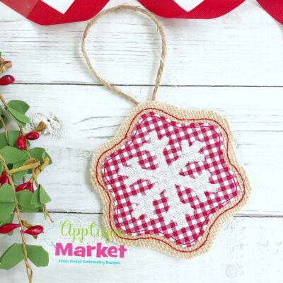 In the Hoop Snowflake Ornament