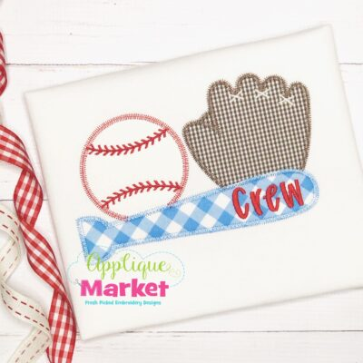 Baseball Trio Zig Zag Applique