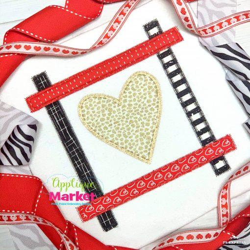 Heart Strip Square Zig Zag
