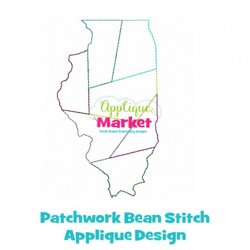 Illinois Patchwork Applique Design Sample