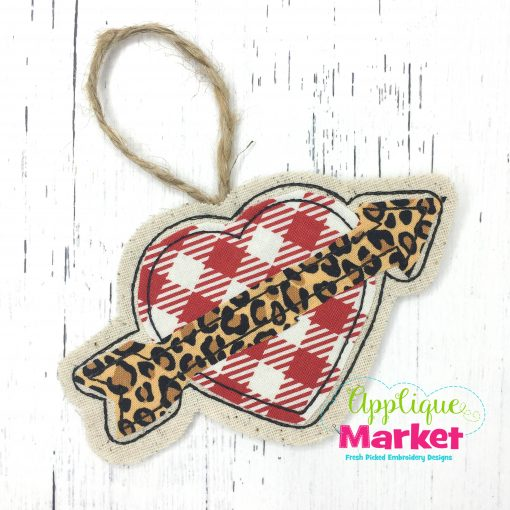 In the Hoop Valentine Heart Arrow Ornament