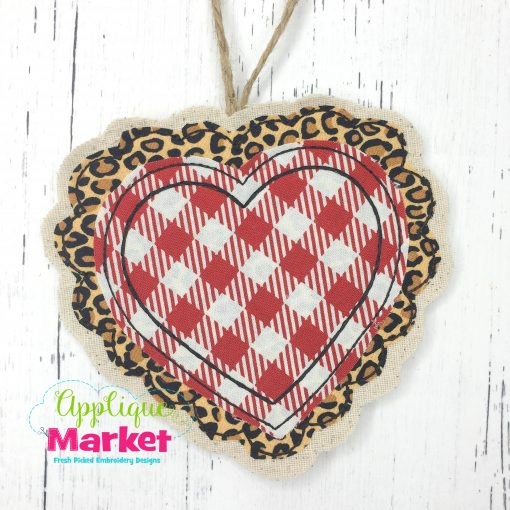 In the Hoop Valentine Lace Heart Ornament