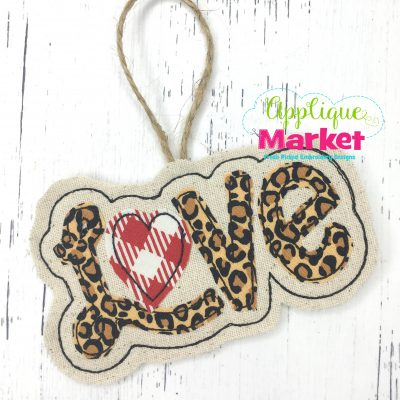 In the Hoop Valentine Love Heart Ornament