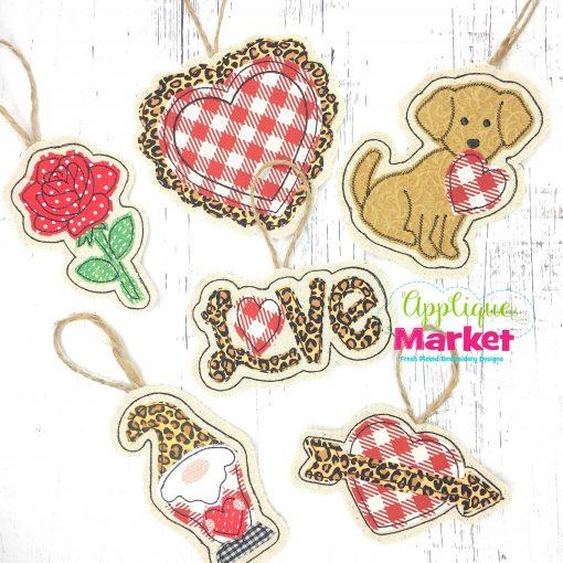 In the Hoop Valentine Ornament Bundle