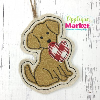 In the Hoop Valentine Puppy Heart Ornament
