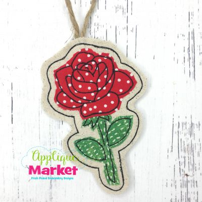 In the Hoop Valentine Rose Ornament
