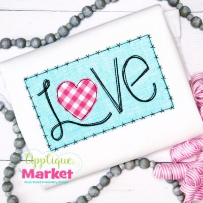 Love Hatch Box Applique Design