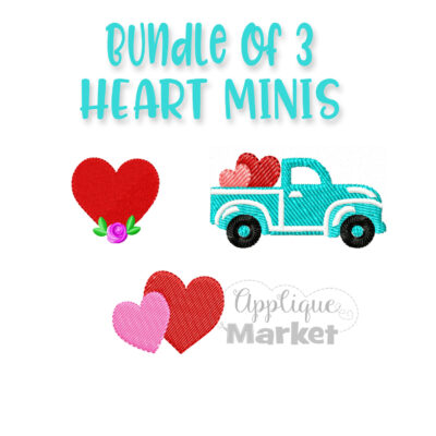 Mini Embroidery Valentine Bundle